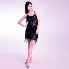 ROYAL SMEELA/皇家西米拉 亮片流苏吊带拉丁 -7009
